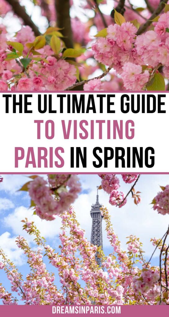 Planning to visit Paris in spring? Here is the ultimate guide to traveling to Paris in spring with all the tips you need to know.| Paris in spring outfits| Paris in spring pictures| what to pack for Paris in spring| things to do in Paris in spring| Paris in spring things to do| what to do in Paris in spring| Paris in spring weather| tips for visiting Paris in spring|  Paris in springtime| Paris spring time |Paris in spring travel #paristraveltips #parisspringtime