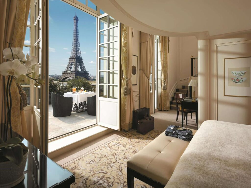 Shangri-La Paris is one of the Best Hotels with Eiffel Tower View in Paris