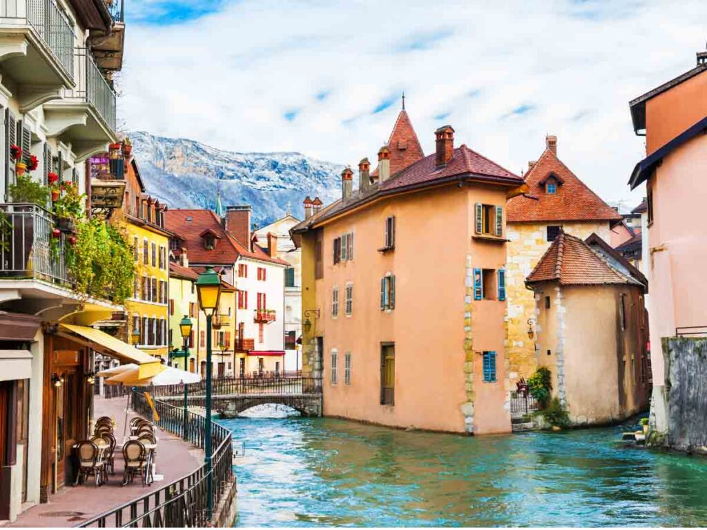 Annecy is one of the beautiful cities in France to visit from Paris