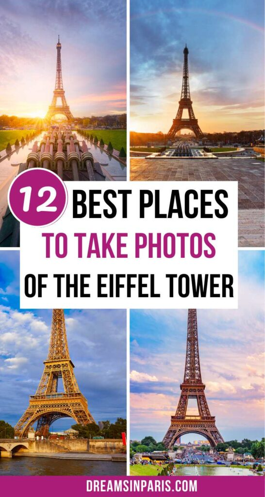 Want to get beautiful pictures of the Eiffel Tower? Here are the best Eiffel Tower Photo spots you need to go to.   places to take photos of the Eiffel tower  most instagrammable places in Paris  Paris instagrammable places  instagrammable Eiffel tower spots  photos of the Eiffel tower  where to take the best Eiffel Tower photos  instagrammable spots for the Eiffel tower  Eiffel tower photography  Eiffel tower photo spot  Eiffel tower Instagram spots of Paris  best views of the Eiffel tower  best Eiffel tower views