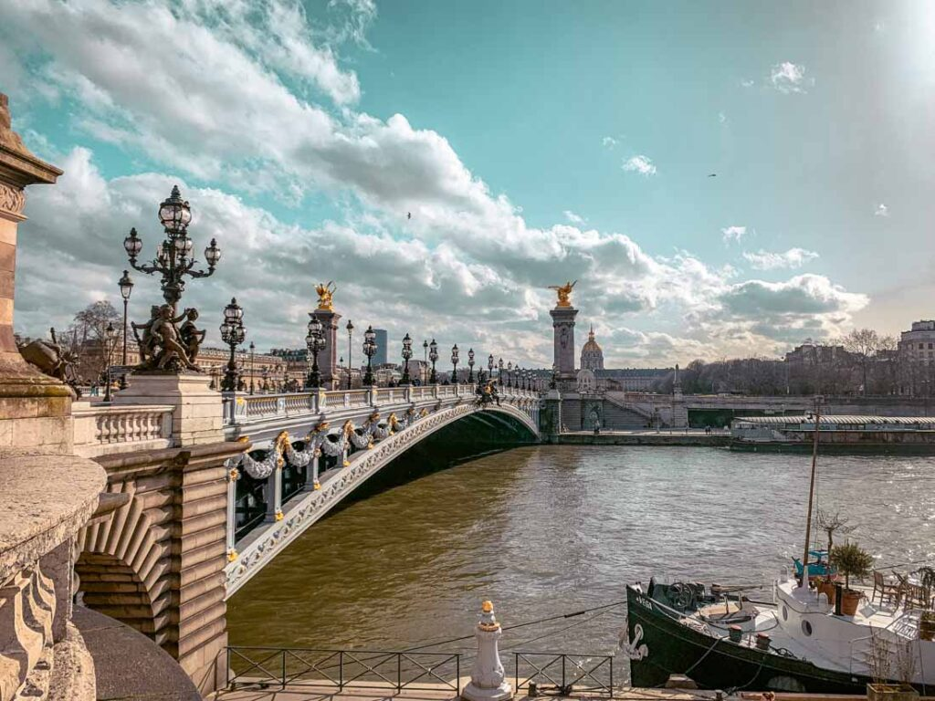 Pont Alexandre III is one of the places to add to your bucket list for Paris