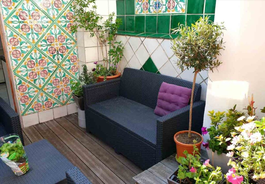 This Quiet Terrace Apartment in the Latin Quarter is one of the beautiful Paris apartments to rent