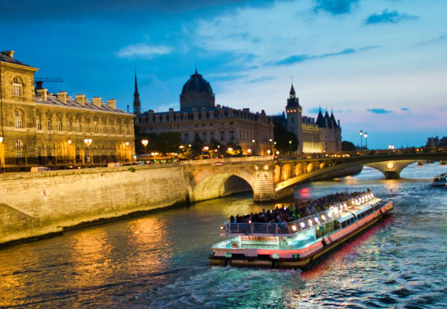 cruising on Seine river is one of the best things to do while in Paris for a weekend